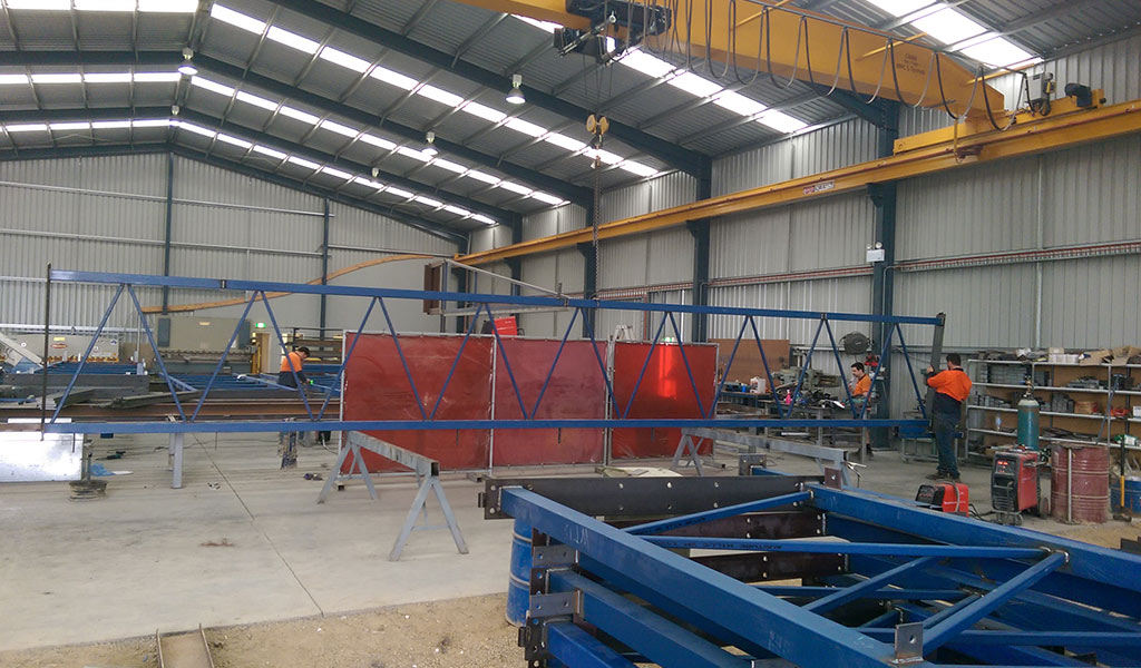 40 meter span truss – commercial development