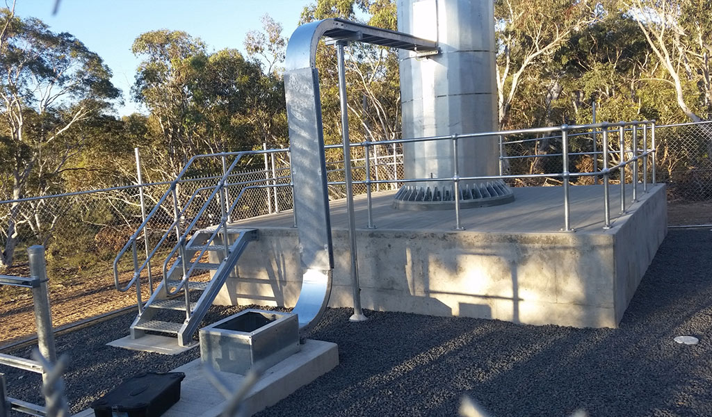 Structural inspections for NBN tower footings reinforcement